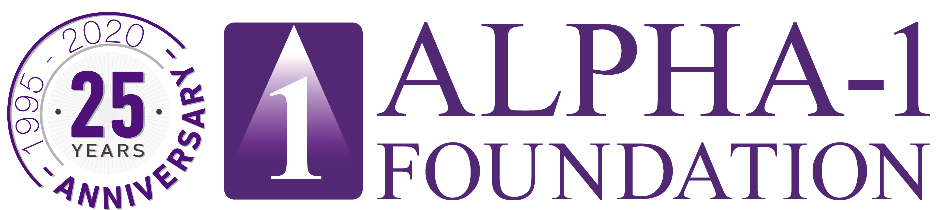 Alpha 1 Foundation 25th logo